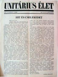 1976. Július - Szeptember - Unitárius tudás-tár