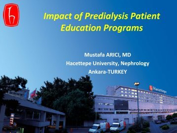 Impact of Predialysis Patient Education Programs