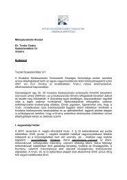 Miniszterelnöki Hivatal Dr. Tordai Csaba Szakállamtitkár Úr részére ...
