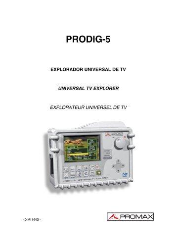 Manual de instrucciones - Promax
