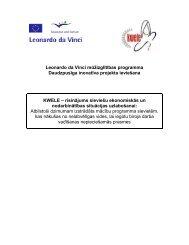 Leonardo da Vinci mūžizglītības programma Daudzpusīga inovatīva ...