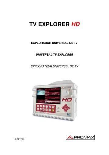 TV Explorer HD manual - Ottawa Ku Satellites