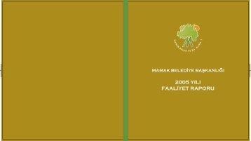 2005 Yılı Faaliyet Rapor (PDF Formatında) - Mamak Belediye ...