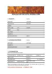 REGISTRATION AND HOTEL BOOKING FORM-Jan 08 _2 - Ortra