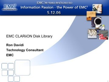 EMC CLARiiON Disk Library - Ortra
