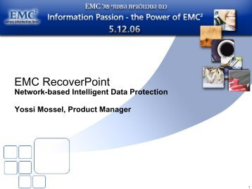 EMC RecoverPoint, Network-based Intelligent Data Protection - Ortra