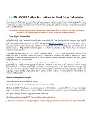 COMCAS2009 Author Instructions for Final Paper Submission - Ortra