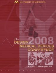 April 15 - 17 Minneapolis, MN - Design of Medical Devices ...