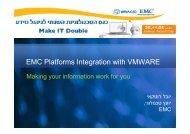 EMC Platforms Integration with VMWARE - Ortra