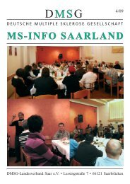 INFORMATIONEN AUS DEM LANDES - DMSG Saar Internetseite