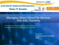 Managing Global Virtual File Services With EMC Rainfinity - Ortra