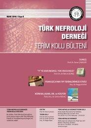 OCAK 2010 / Say 5 - Türk Nefroloji Derneği