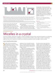 Micelles in a crystal - Itai Cohen Group - Cornell University