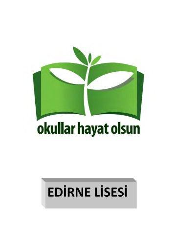 EDİRNE LİSESİ - Edirne Milli Eğitim Müdürlüğü