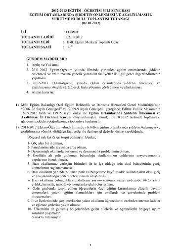 2012-2013 eğitim - Edirne Milli Eğitim Müdürlüğü