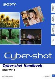 Cyber-shot Handbook - How To & Troubleshooting - Sony
