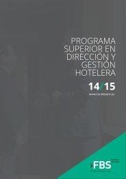 Programa Superior en Gestion Hotelera