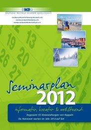 Seminarplan 2012 - DMSG Hamburg