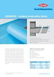 QUASH EF – izolácia krokového hluku - Ravago