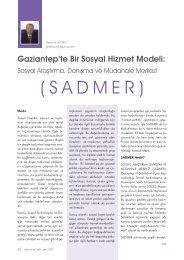 Sosyal Araştırma, Danışma ve Müdahale Merkezi (SADMER)
