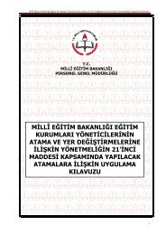 Kılavuz - Milli Eğitim Bakanlığı Personel Genel Müdürlüğü