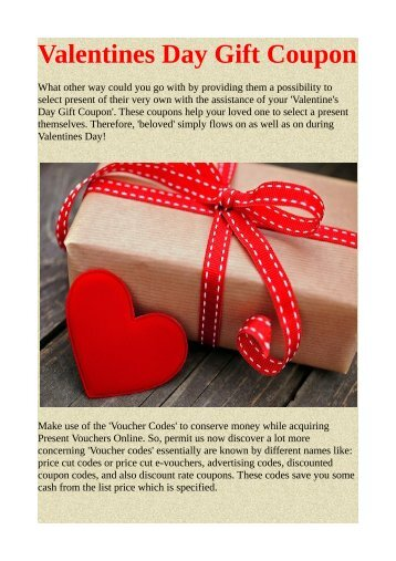 Valentines Day Gift Coupon