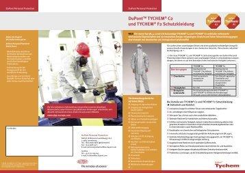 DuPontTM TYCHEM® C2 und TYCHEM® F2 Schutzkleidung