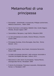 Metamorfosi di una principessa - Biblioteca Comunale di Copparo