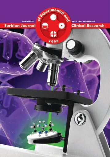 Serbian Journal of Experimental and Clinical Research Vol10 No4