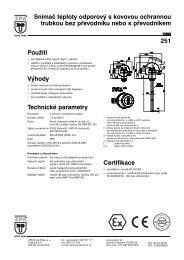 Použití Výhody Technické parametry Snímač teploty odporový s ...