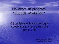 "Uputstvo za program ""Subtitle Workshop"" - Tutoriali.org"