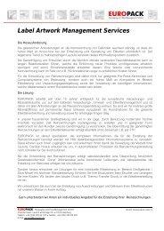 Label Artwork Management Services - EUROPACK