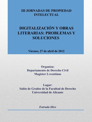 Más información - Biblioteca UA - Universidad de Alicante
