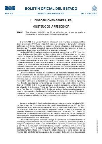 Real Decreto 1889/2011 - BOE.es
