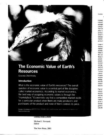 What is the economic value of Earth's resources? The ... - P-i-r.org