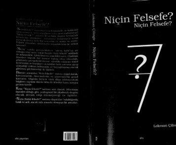 03-Niçin Felsefe-L.Çilingir-Ankara Okulu Yayınları (22MB)
