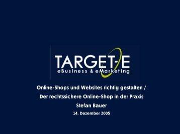 1 Online-Shops und Websites richtig gestalten / Der rechtssichere ...