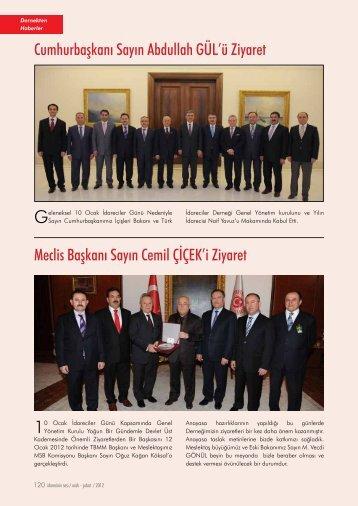 Dernekten Haberler - Türk İdareciler Derneği