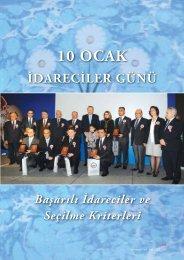 10 OCAK - Türk İdareciler Derneği