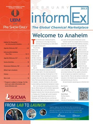 2013 Informex Show Daily eEdition - Chemical & Engineering News