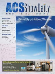 Deadline News ACS News Exhibitor News - Chemical ...