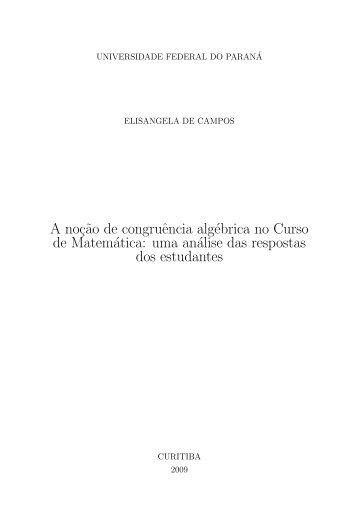 Elisangela de Campos - Programa de Pós-Graduação em ...