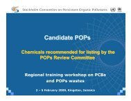Candidate POPs - Stockholm Convention on Persistent Organic ...