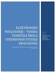 Elektronsko poslovanje – Visoka tehnička škola strukovnih studija ...