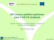 IKT nozares publisko iepirkumu joma VARAM skatījumā