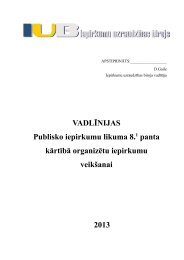 Vadlīnijas Publisko iepirkumu likuma 8.prim panta kārtībā orfanizētu ...