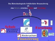 Finanzierung Forschung Schule - Lernort Labor