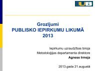 Grozījumi Publisko iepirkumu likumā 2013 - Iepirkumu uzraudzības ...