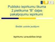 """Publisko iepirkumu likuma 2.pielikuma """"B"""" daļas pakalpojumu ..."""