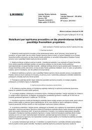 Noteikumi par iepirkuma procedūru un tās piemērošanas kārtību ...